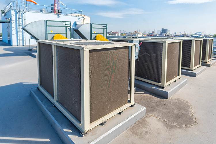 rooftop heating and cooling system operate